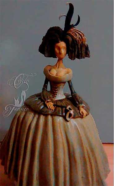 figura de resina menina