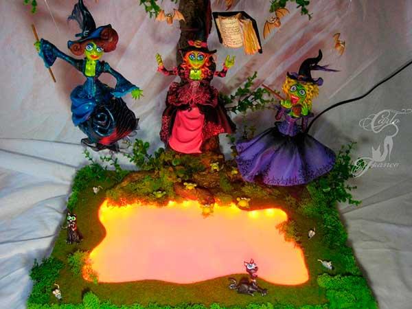 figura de resina brujas