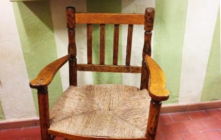 sillón rústico