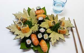 hoja de porcelana para sushi