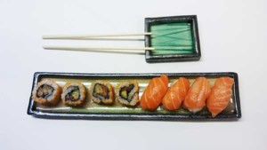 platos de porcelana para sushi
