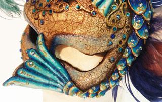 antifaz veneciano azul