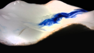 platos de porcelana con pigmentos cerámicos