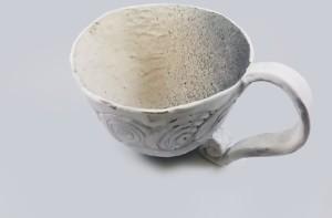 taza de ceramica esmaltada a mano