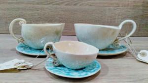 conjunto de tazas de cerámica