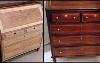 restauración de muebles antes y después