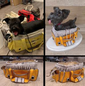 perro modelado en el taller de cerámica artística