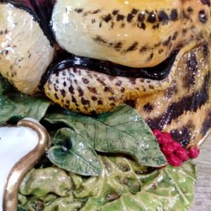 taller de cerámica artística detalle leopardo