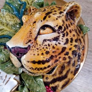 clases de cerámica leopardo en plato