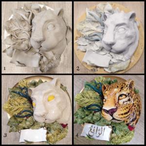 proceso de esmaltado en el curso de cerámica