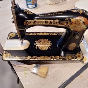 12 maquina de coser cabeza taller de restauración de muebles