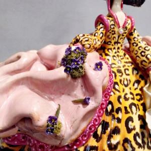escuela de cerámica menina de leopardo