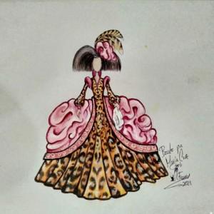 clases de cerámica boceto menina de leopardo